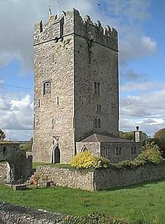 Ballyhannon Castle is a medieval Irish castle dating back to the 15th century, located near the village of Quin in County Clare, on the west coast of Ireland. Wikipedia