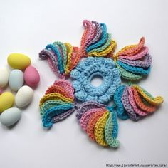 lots of pretty motifs with diagrams . CROCHET AND KNIT INSPIRATION: http://pinterest.com/gigibrazil/crochet-and-knitting-lovers/