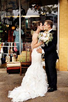 Wedding gown. Strapless wedding dress. Wedding inspiration.  Photography by: Logan Walker