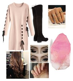 """Rose"" by vielka-neira on Polyvore featuring Stuart Weitzman and SoapRocks"