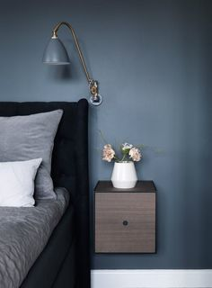 You can also buy all by Lassen design products on the site. You can find classics like Kube and Frame from by Lassen and much more. Blue Bedroom Decor, Farmhouse Bedroom Decor, Decor Room, Bedroom Colors, Home Decor, Gray Bedroom, By Lassen, Box Bed, Scandinavian Bedroom