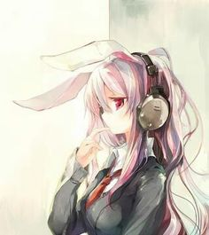 anime, anime girl, and bunny image