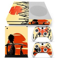 Samurai Champloo Silhouette Orange Sunset Xbox One S Skin — Konoha Stuff