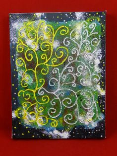 Swirly lines on a grainy background by colourbeauty on Etsy.