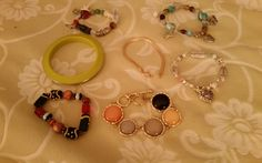 BRACELETS LOT OF 7 FASHION STRETCH TOGGLE BANGLE in Jewelry & Watches, Fashion Jewelry, Bracelets | eBay