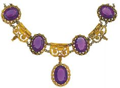 a 19th century amethyst and gold suite
