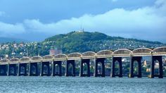 Tay Rail Bridge with Dundee Law rising behind.  Photo by James Green