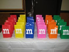 M&M's party goodie bags