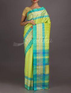 Sanvi Lemony Icy Good Looking Pure #PattuSilkSaree