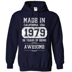 Made in California, USA, 1979 T-Shirts, Hoodies. VIEW DETAIL ==► https://www.sunfrog.com/Birth-Years/Made-in-California-USA-1979-7894-NavyBlue-30837037-Hoodie.html?41382