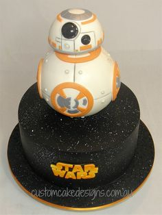 BB8 Star Wars Cake by CustomCakeDesigns.deviantart.com on @DeviantArt
