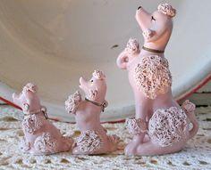 Mid-Century Retro Pink Poodles by JwrobelStudio on Etsy Tea Cup Poodle, Pink Poodle, French Poodles, Standard Poodles, Dog Items, Everything Pink, Vintage Pink, Vintage Items, Pet Birds