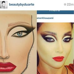 Amazing face chart by @beautybyduarte