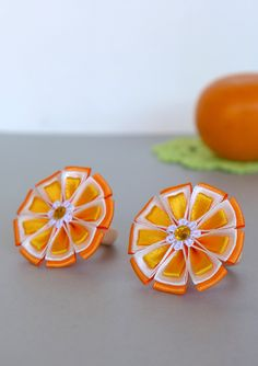Important Trifles. Juicy bright oranges. Scrunchies for girls.