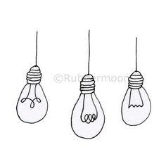 "Bright Ideas - Rubber Art Stamp (approx. image size 1 3/4"" hx 2"" w)"