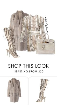 """Untitled #47"" by styledbyjanetta on Polyvore featuring 32 Paradis Sprung Frères, Balmain, Sophia Webster and Hermès"