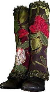 beaded and embroidered boots