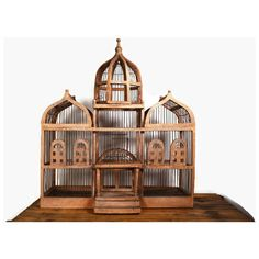 Vintage Victorian Bird Cage, Large Wooden Bird House, Antique Bird... (€210) ❤ liked on Polyvore featuring vintage, wood bird house, wooden bird houses, wood birdhouse and wooden birdhouses