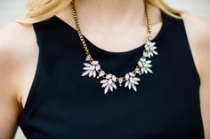 Love this crystal statement necklace for dressing up an outfit