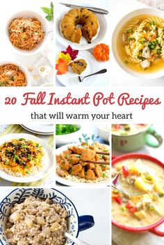 20 Quick and Easy Fall Instant Pot Recipes for IP and other pressure cookers. via @Mom4Real