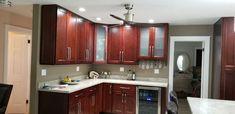 Cherry Wood Kitchens, Kitchen Cabinets, Home Decor, Decoration Home, Room Decor, Cabinets, Home Interior Design, Dressers, Home Decoration