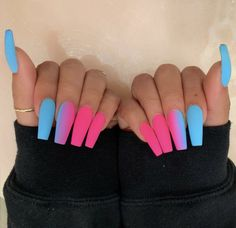 In search for some nail designs and ideas for your nails? Here's our list of 28 must-try coffin acrylic nails for fashionable women. Glow Nails, Aycrlic Nails, Swag Nails, Matte Nails, Coffin Nails, Stiletto Nail Art, Grunge Nails, Nagellack Design, Modern Nails