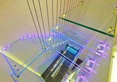 Transparent staircase.