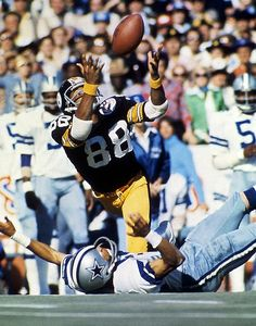 While watching the Eagles lose, found myself supporting the other team from PA, The Steelers.   My father is from a small town just outside of Carnegie.  Lynn Swann (Hall of Fame)