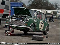 Car 7 - Joe Twyman and Andrew Smith - 1964 Austin Mini Cooper S by retromotoring