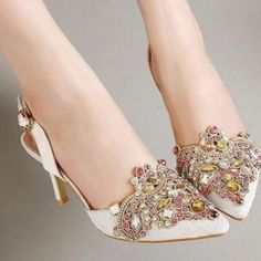 Fashion Style Celebrity Rhinestone Cut Outs Pu Pointed High Heel Unforgettable Pumps Shoes