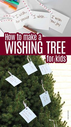 Make a wishing tree for your family! Inspired by Wishtree, this month's Family Dinner Book Club activity is about respect and inclusion, and a wish tree is the perfect fit. Makes a great community service project or a random act of kindness idea for kids. Christmas Activities For Kids, Book Activities, Crafts For Kids, Classroom Activities, Fun Crafts, Service Projects For Kids, Community Service Projects, Service Club, Service Ideas