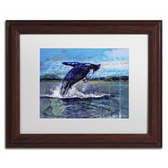 Ocean King by Lowell S.V. Devin Matted Framed Painting Print