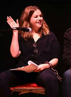 Amber Tamblyn at #hatefuleight reading Ace Theater