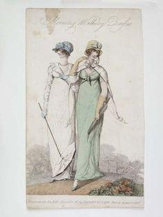 Morning Walking Dresses  1808