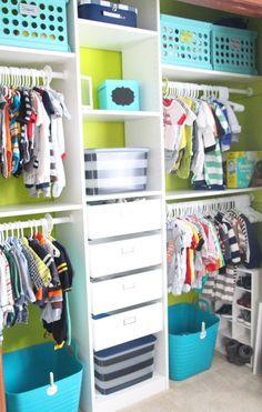 Nursery closet | little boy nursery reveal | navy green & gray room | DIY nursery | nursery inspiration |  thisisourbliss.com