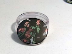 """Comic Book 1.5"""" Button// Green Arrow (Oliver Queen) and Conner Hawke, $1.00"""