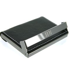 Engraved Leather Business Card Holder  by UptownMonogramShop