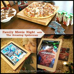 Family Movie Night with The Amazing Spiderman Dinner And A Movie, Family Movie Night, Fun Ideas, Party Ideas, Movie Ideas, Movie Nights, We Are Family, Family Gatherings, Amazing Spiderman