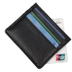 Simple Genuine Cow Leather Card Holder Fashion Multi-Color Unisex Credit Card Business Card Case