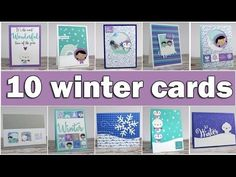 10 winter cards Clips-n-Cuts. Vicky does a GREAT job making card making from a kit look simple! Lots of tips and tricks included.