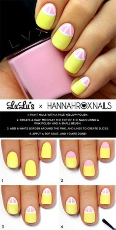 nice 18 Easy Step By Step Summer Nail Art Tutorials For Beginners & Learners 2015