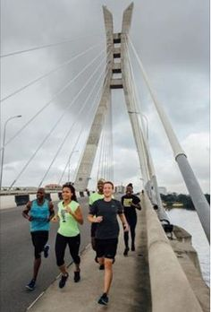 See photo of super fit Mark Zuckerberg jogging on Lekki-Ikoyi bridge Lagos