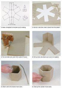 Artes Cerámica Daily - Cómo Handbuild un tarro hexagonal Usando una plantilla