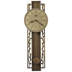 Treviso Wall Clock - 625-341, Office Accessories, Wrought Iron pendulum, vine and leaf ornamentation.
