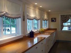 relaxed roman shades with trim