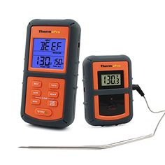 ThermoPro Remote Wireless Digital Kitchen Cooking Food Meat Thermometer with Timer for BBQ Smoker Grill Oven 300 Feet Range *** Check this awesome product by going to the link at the image-affiliate link. Grill Oven, Kitchen Grill, Backyard Kitchen, Bbq Grill, Kitchen Dining, Backyard Bbq, Kitchen Utensils, Kitchen Gadgets, Barbecue