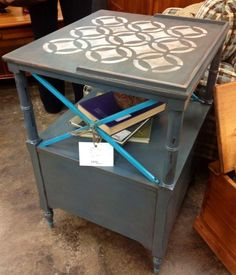 Ethan Allen Painted End Table, $149