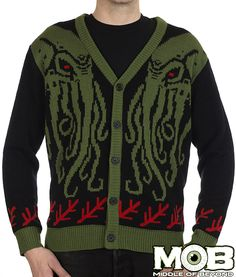 Cthulhu Lovecraft Cardigan from MIDDLEOFBEYOND.COM #middleofbeyond