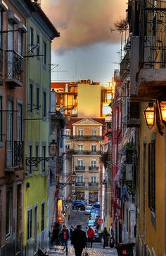 Barrio Alto, Lisbon, Portugal. We stayed here the last 2 nights we were in Portugal. Great little town. You can walk everywhere.