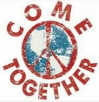"""✌Peace Sign """"Come Together"""" #cRed #cTeal"""